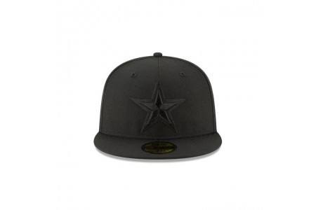 DALLAS COWBOYS BLACK ON BLACK 59FIFTY FITTED