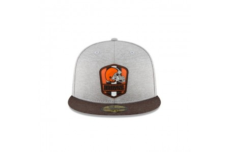 Black Friday Sale - CLEVELAND BROWNS OFFICIAL SIDELINE ROAD KIDS 59FIFTY FITTED