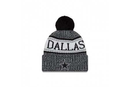 Black Friday Sale - DALLAS COWBOYS BLACK AND WHITE COLD WEATHER SPORT KNIT