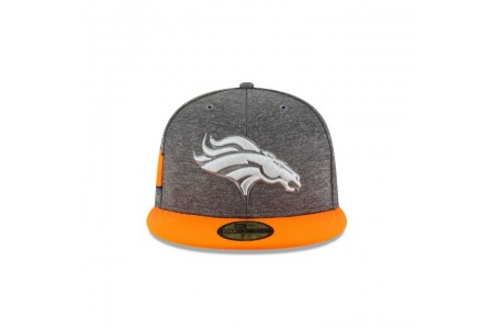 DENVER BRONCOS GRAPHITE SIDELINE HOME 59FIFTY FITTED - Sale