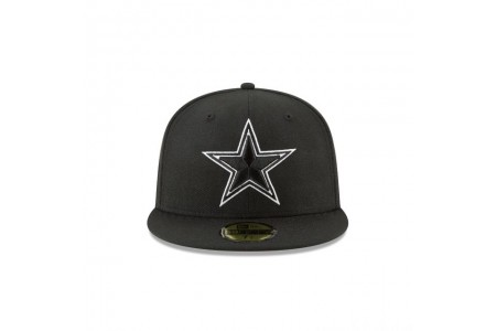 Black Friday Sale - DALLAS COWBOYS BLACK AND WHITE 59FIFTY FITTED