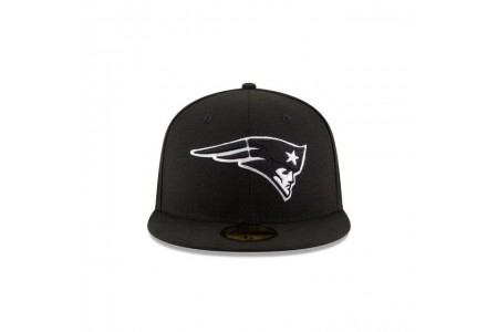 NEW ENGLAND PATRIOTS BLACK & WHITE 59FIFTY FITTED - Sale