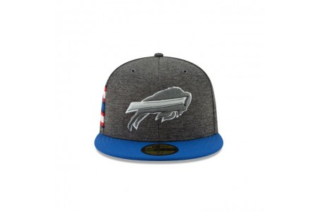 BUFFALO BILLS GRAPHITE SIDELINE HOME 59FIFTY FITTED