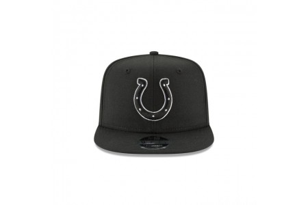 INDIANAPOLIS COLTS BLACK AND WHITE HIGH CROWN 9FIFTY SNAPBACK - Sale