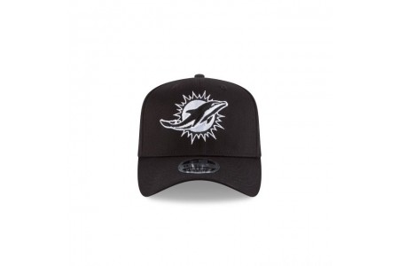 MIAMI DOLPHINS BLACK AND WHITE STRETCH SNAP 9FIFTY SNAPBACK - Sale