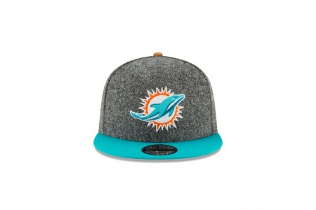 MIAMI DOLPHINS SUEDE ON TWEED 9FIFTY STRAPBACK - Sale