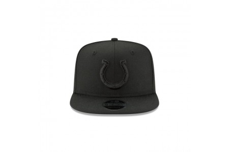 INDIANAPOLIS COLTS BLACK ON BLACK HIGH CROWN 9FIFTY SNAPBACK
