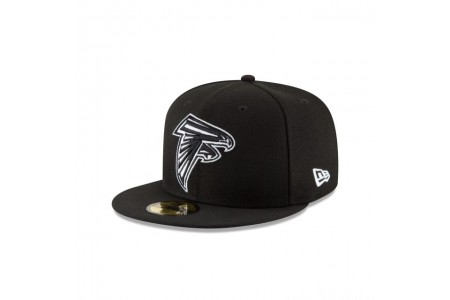 ATLANTA FALCONS BLACK & WHITE 59FIFTY FITTED - Sale