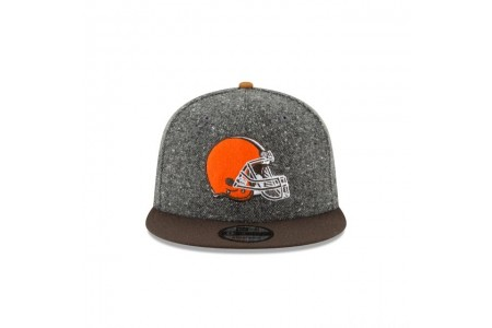 CLEVELAND BROWNS SUEDE ON TWEED 9FIFTY STRAPBACK