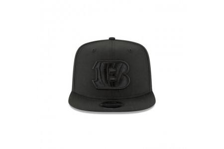 CINCINNATI BENGALS BLACK ON BLACK HIGH CROWN 9FIFTY SNAPBACK