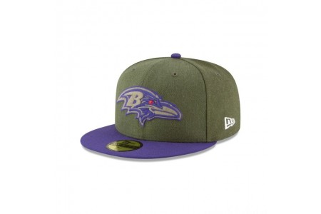 BALTIMORE RAVENS SALUTE TO SERVICE KIDS 59FIFTY FITTED
