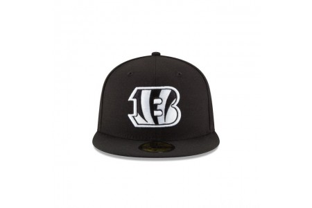 CINCINNATI BENGALS BLACK & WHITE 59FIFTY FITTED