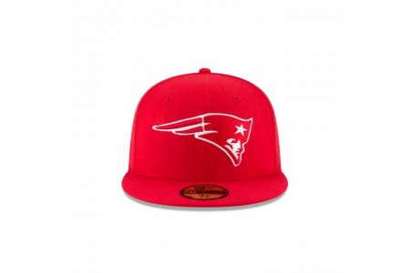 NEW ENGLAND PATRIOTS SCARLET MELTON WOOL 59FIFTY FITTED - Sale