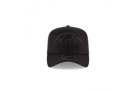 BALTIMORE RAVENS BLACK ON BLACK STRETCH SNAP 9FIFTY SNAPBACK
