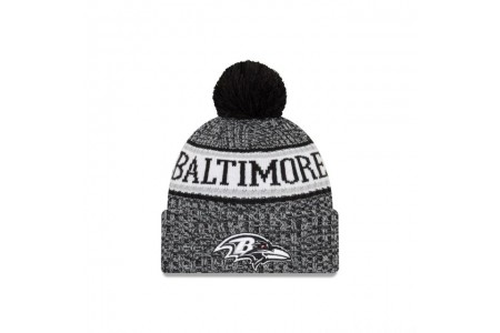 BALTIMORE RAVENS BLACK AND WHITE COLD WEATHER SPORT KNIT