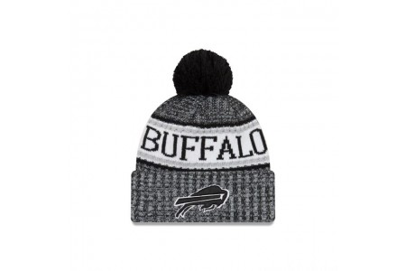 BUFFALO BILLS BLACK AND WHITE COLD WEATHER SPORT KNIT - Sale