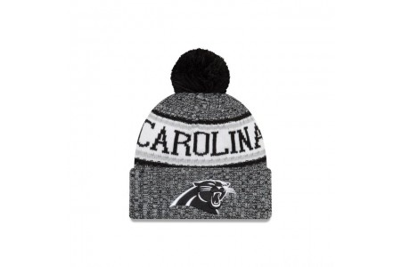 CAROLINA PANTHERS BLACK AND WHITE COLD WEATHER SPORT KNIT