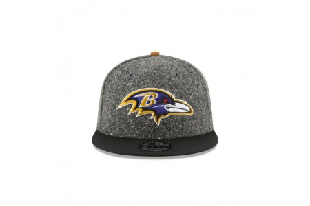 BALTIMORE RAVENS SUEDE ON TWEED 9FIFTY STRAPBACK