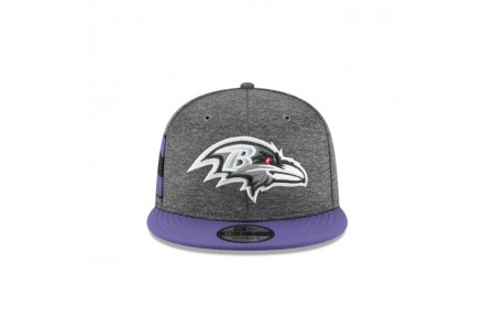BALTIMORE RAVENS GRAPHITE SIDELINE HOME 9FIFTY SNAPBACK - Sale