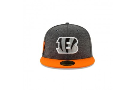 CINCINNATI BENGALS GRAPHITE SIDELINE HOME 59FIFTY FITTED