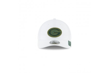 GREEN BAY PACKERS NFL TRAINING WHITE 9TWENTY ADJUSTABLE