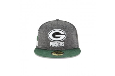 GREEN BAY PACKERS GRAPHITE SIDELINE HOME 59FIFTY FITTED - Sale