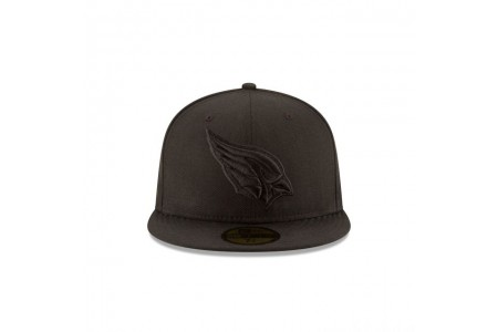 ARIZONA CARDINALS BLACK ON BLACK 59FIFTY FITTED - Sale