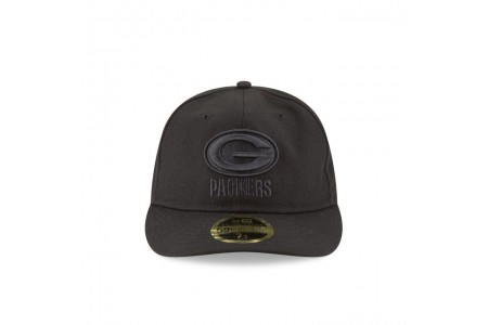 GREEN BAY PACKERS FAN FIT RETRO CROWN BLACK 59FIFTY FITTED