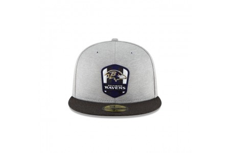 BALTIMORE RAVENS OFFICIAL SIDELINE ROAD KIDS 59FIFTY FITTED - Sale