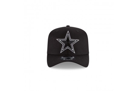 Black Friday Sale - DALLAS COWBOYS BLACK AND WHITE STRETCH SNAP 9FIFTY SNAPBACK