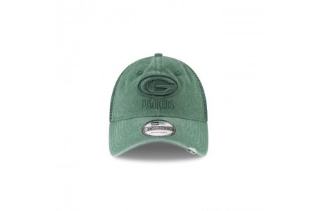 GREEN BAY PACKERS TONAL WASHED TRUCKER 9TWENTY ADJUSTABLE - Sale