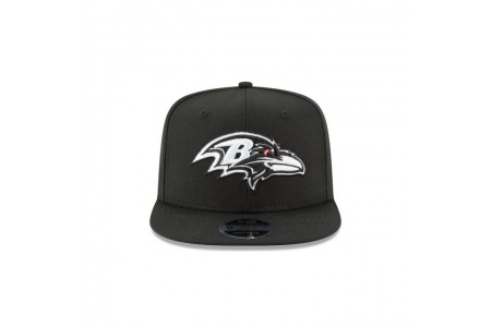 BALTIMORE RAVENS BLACK AND WHITE HIGH CROWN 9FIFTY SNAPBACK - Sale