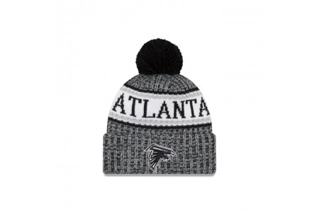 ATLANTA FALCONS BLACK AND WHITE COLD WEATHER SPORT KNIT - Sale