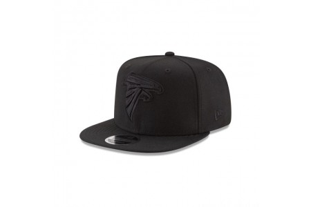 ATLANTA FALCONS BLACK ON BLACK HIGH CROWN 9FIFTY SNAPBACK - Sale