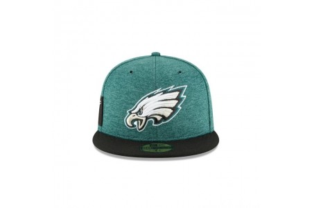 PHILADELPHIA EAGLES OFFICIAL SIDELINE HOME 59FIFTY FITTED