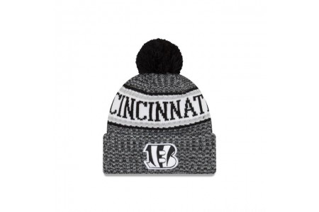 CINCINNATI BENGALS BLACK AND WHITE COLD WEATHER SPORT KNIT - Sale