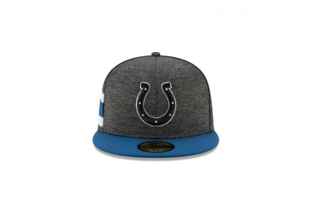 INDIANAPOLIS COLTS GRAPHITE SIDELINE HOME 59FIFTY FITTED