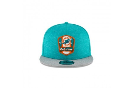MIAMI DOLPHINS OFFICIAL SIDELINE ROAD KIDS 9FIFTY SNAPBACK - Sale