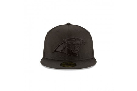 CAROLINA PANTHERS BLACK ON BLACK 59FIFTY FITTED - Sale