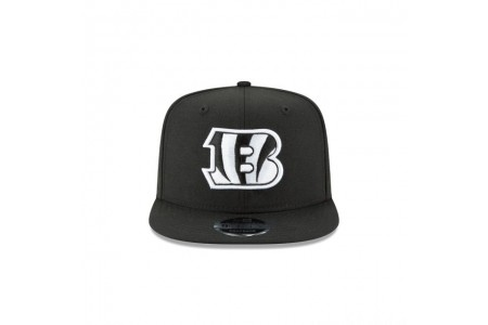 CINCINNATI BENGALS BLACK AND WHITE HIGH CROWN 9FIFTY SNAPBACK