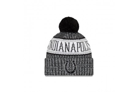 INDIANAPOLIS COLTS BLACK AND WHITE COLD WEATHER SPORT KNIT