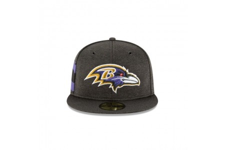 BALTIMORE RAVENS OFFICIAL SIDELINE HOME 59FIFTY FITTED