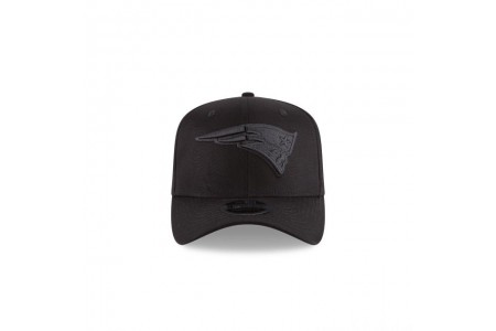NEW ENGLAND PATRIOTS BLACK ON BLACK STRETCH SNAP 9FIFTY SNAPBACK - Sale