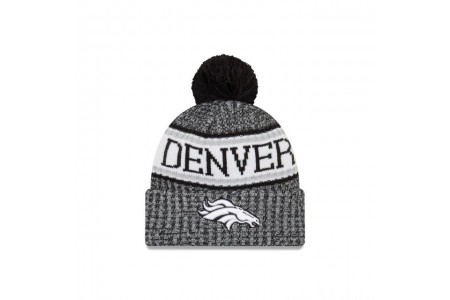 DENVER BRONCOS BLACK AND WHITE COLD WEATHER SPORT KNIT