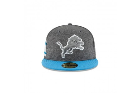 DETROIT LIONS GRAPHITE SIDELINE HOME 59FIFTY FITTED - Sale
