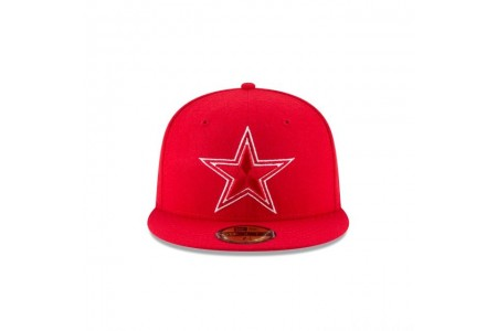 Black Friday Sale - DALLAS COWBOYS SCARLET MELTON WOOL 59FIFTY FITTED