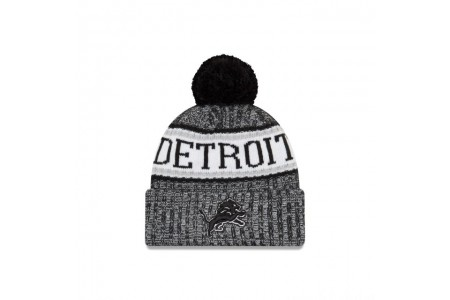 Black Friday Sale DETROIT LIONS BLACK AND WHITE COLD WEATHER SPORT KNIT