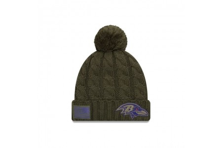 BALTIMORE RAVENS SALUTE TO SERVICE WOMENS POM KNIT - Sale