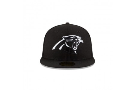 Black Friday Sale - CAROLINA PANTHERS BLACK & WHITE 59FIFTY FITTED