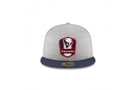 HOUSTON TEXANS OFFICIAL SIDELINE ROAD KIDS 59FIFTY FITTED